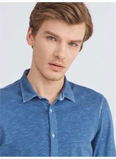 Xint XINT %100 Pamuk Slim Fit Gömlek İndigo